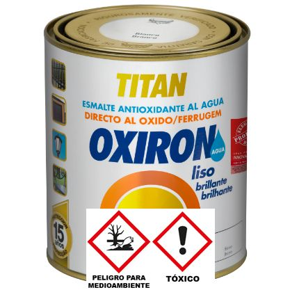 OXIRON LISO BRILLANTE AL AGUA BLANCO 750 ML