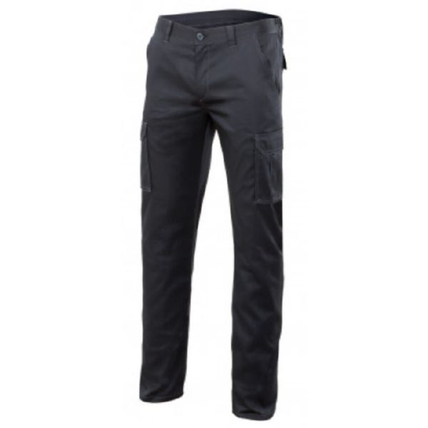PANTALON MULTIBOLSILLO STRETCH NEGRO 44